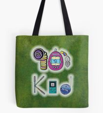 90's Kid in Grunge Green Tote Bag