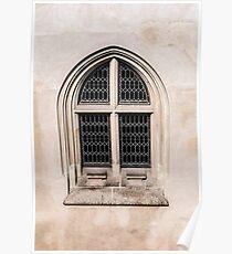 Gothic window. Poster