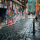 Melbourne's Hosier Lane (Colour) by jamjarphotos