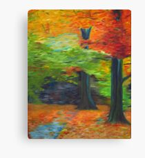 Impressionist Forest Canvas Print