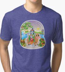 Krishna - Hindu God - Bunch of Bhagwans Tri-blend T-Shirt