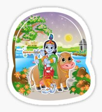 Krishna - Hindu God - Bunch of Bhagwans Sticker
