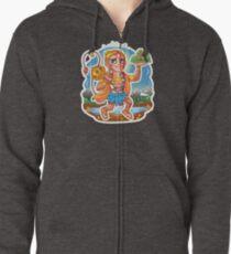 Hanuman - Hindu God - Bunch of Bhagwans Zipped Hoodie