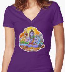 Shiva - Hindu God - Bunch of Bhagwans Women's Fitted V-Neck T-Shirt