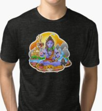 Shiva - Hindu God - Bunch of Bhagwans Tri-blend T-Shirt
