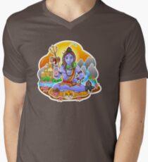 Shiva - Hindu God - Bunch of Bhagwans Men's V-Neck T-Shirt