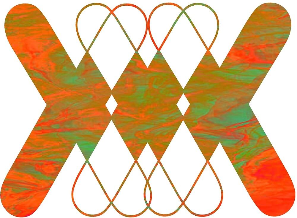 X Pattern Design (Orange & Green) by ProjectMayhem
