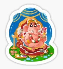 Ganesh - Hindu God - Bunch of Bhagwans Sticker