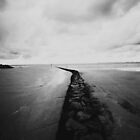 Beach Normandie France Black and white by Marie Charrois