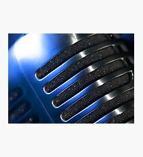 Microphone macro abstract Photographic Print