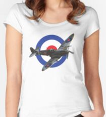 Supermarine Spitfire Women's Fitted Scoop T-Shirt