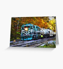 Train in Fall Greeting Card