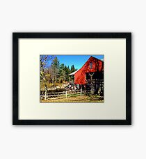 Red Grist Mill of Vermont Framed Print