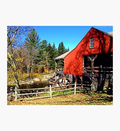Red Grist Mill of Vermont Photographic Print
