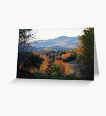 Mountains of Belmont Greeting Card