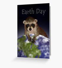 Earth Day Raccoon Greeting Card