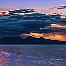 Sunset storm over the Isle of Rum by Hugh McKean