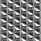 Black and white 3d triangular pattern by mikath