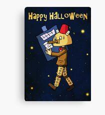 Halloween Doctor Who Card Canvas Print