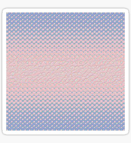 #DeepDream Color Circles Gradient Rose Quartz and Serenity 5x5K v1449298379 Sticker