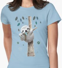 Baby Sloth Daylight Womens Fitted T-Shirt