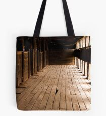 Sheep run Kinchega Woolshed Tote Bag