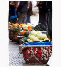 Chinese Street Markets Poster