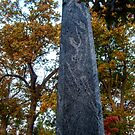 Odd Monolith At The Cemetery by Jane Neill-Hancock