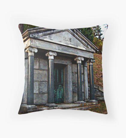 Rhinelander Mausoleum, Sleepy Hollow Cemetery Throw Pillow