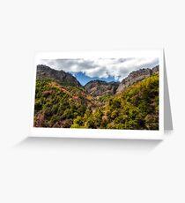 Autumn Mountains Greeting Card