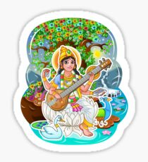Saraswati - Hindu Goddess - Bunch of Bhagwans Sticker