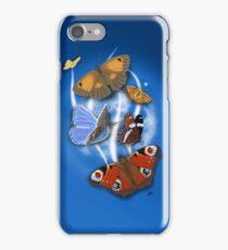 Butterflies Blue 2 iPhone Case/Skin