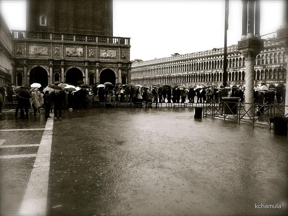 duckboards in piazza san marco by kchamula