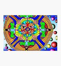 Mind map as a Mandala Photographic Print