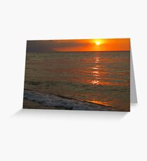 tropical sunset III - puesta del sol tropical Greeting Card