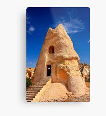 The peculiar church of El Nazar in Cappadocia Metal Print