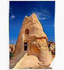 The peculiar church of El Nazar in Cappadocia Poster