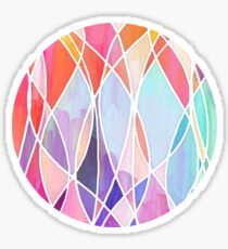 Purple & Peach Love - abstract painting in rainbow pastels Sticker
