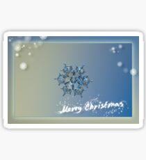 Snowflake Christmas card #4 Sticker