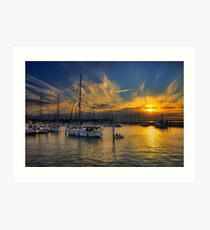 Yarmouth Sundown Art Print
