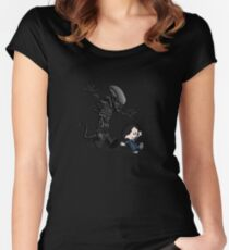 Ripley and alien Women's Fitted Scoop T-Shirt