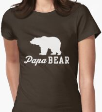 Papa Bear Women's Fitted T-Shirt