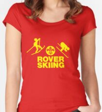 Rover Skiing Women's Fitted Scoop T-Shirt