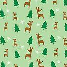 Reindeer Forest In Mint by pondlifeforme