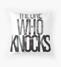The One Who Knocks Throw Pillow