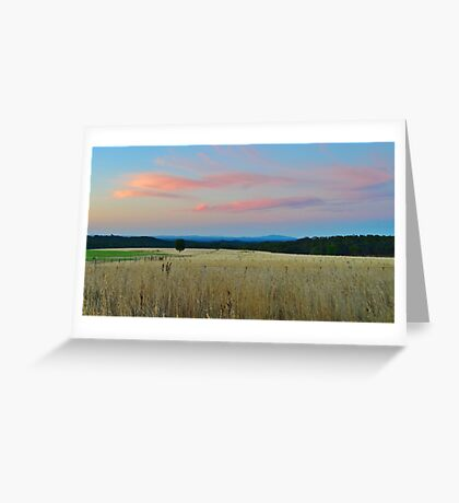 silently departing light Greeting Card