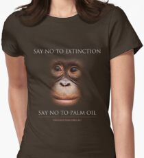 Say No to Extinction Women's Fitted T-Shirt