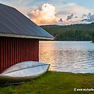 Sunset over a Swedish Lake by Michael Brewer