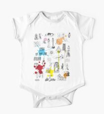 History of Art (w/ paint splashes) One Piece - Short Sleeve
