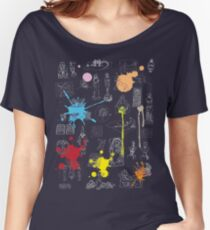 History of Art (dark tee, w/ paint splashes) Women's Relaxed Fit T-Shirt